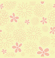 yellow and peach floral seamless pattern design vector image