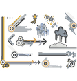design elements metals vector image