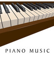 piano music background vector image