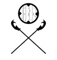 set of historical halberd silhouettes vector image