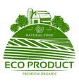 vintage natural agricultural green label template vector image