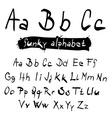 ABC - abc Funky Black Hand Written Alphabet Set vector image