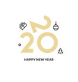 2020 new year design happy logo calendar vector image vector image