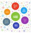 7 preschool icons vector image vector image