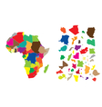 Africa color map vector image vector image
