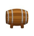 alcohol drink barrel cartoon flat style vector image vector image