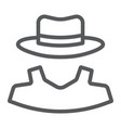anonymity line icon detective and private vector image vector image