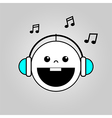 Baby listening to music vector image vector image