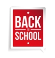 Back to School sign speech bubble vector image vector image