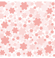 background with pink flowers vector image vector image