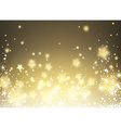 Background with stars and snow vector image vector image