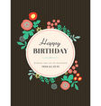 Birthday card design Flower vector image vector image