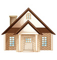 brick house with brown roof vector image vector image