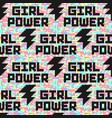 camouflage seamless pattern with girl power quote vector image vector image