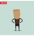 Cartoon Business man with paper bag - - EPS1 vector image vector image