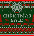 christmas sale knitted handmade abstract vector image