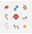 Christmas set icons vector image