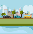 cityscape and road scene vector image vector image