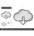 Cloud download line icon vector image
