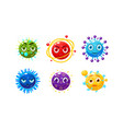 collection of colorful fantasy planets characters vector image vector image