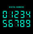color digital numbers set digital number font vector image