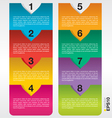 Colorful banner template EPS10 vector image vector image