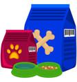 colorful cartoon pet food poster vector image