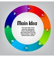 Concept of colorful circular banners afor vector image vector image