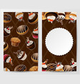 cupcakes stickers background vector image vector image