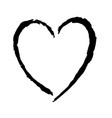 doodle hand drawn heart shaped vector image vector image
