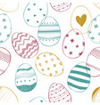 easter seamless pattern with ornate eggs vector image vector image