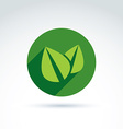 Ecology icon for nature and environment vector image