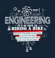 engineering quote elements vector image