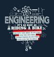 engineering quote elements vector image