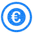 euro coin rounded icon rubber stamp vector image