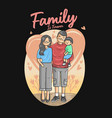 family is forever cartoon vector image vector image
