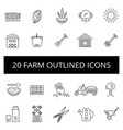 farm thin icon set vector image vector image