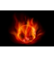 fireball vector image