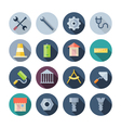 Flat Design Icons For Construction vector image vector image