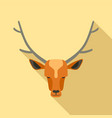 forest deer icon flat style vector image
