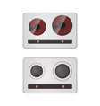 gas and electric stove vector image vector image