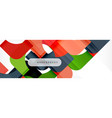 geometric squares abstract banner vector image vector image