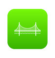 golden gate bridge icon green vector image