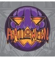 Halloween Pumpkin Badge vector image