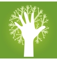 hands tree vector image vector image