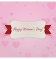 Happy Womens Day greeting Card with Ribbon vector image