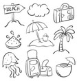 holiday element summmer doodles vector image vector image