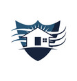 home shield vector image vector image