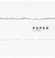 horizontal seamless torn paper edge rough broken vector image vector image