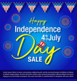 independence day united states america back vector image vector image